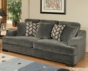 Sofa Rocky Contemporary Style in Charcoal Finish BH-47SS222