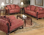 Sofa Set Fairfax Magenta by Acme Furniture AC50330SET