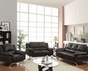 Sofa Set in Black Bonded Leather Maigan by Acme Furniture AC51205SET