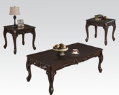 Coffee Table Set in Brown Cherry by Acme Furniture AC80234SET