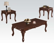 Brown Coffee Table Set Fairfax Magenta by Acme Furniture AC80234B-SET