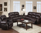 Sofa Set in Brown Polished Microfiber Josef by Acme AC50775SET