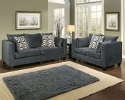 Sofa Set Monaco Contemporary Style in Eclipse Finish BH-47SS191