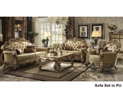 Sofa Set Vendome Gold in Acme Furniture AC530SET