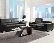 Sofa Set Vernon in Black by Homelegance EL-9603BLK-SET