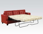 Sofa w/ Queen Sleeper Platinum Red by Acme Furniture AC15063B