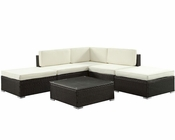 Sonoma Patio Sectional Set in Espresso White by Modway MY-EEI986EW