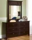 Standard Furniture Dresser & Mirror Club House ST-57459-68