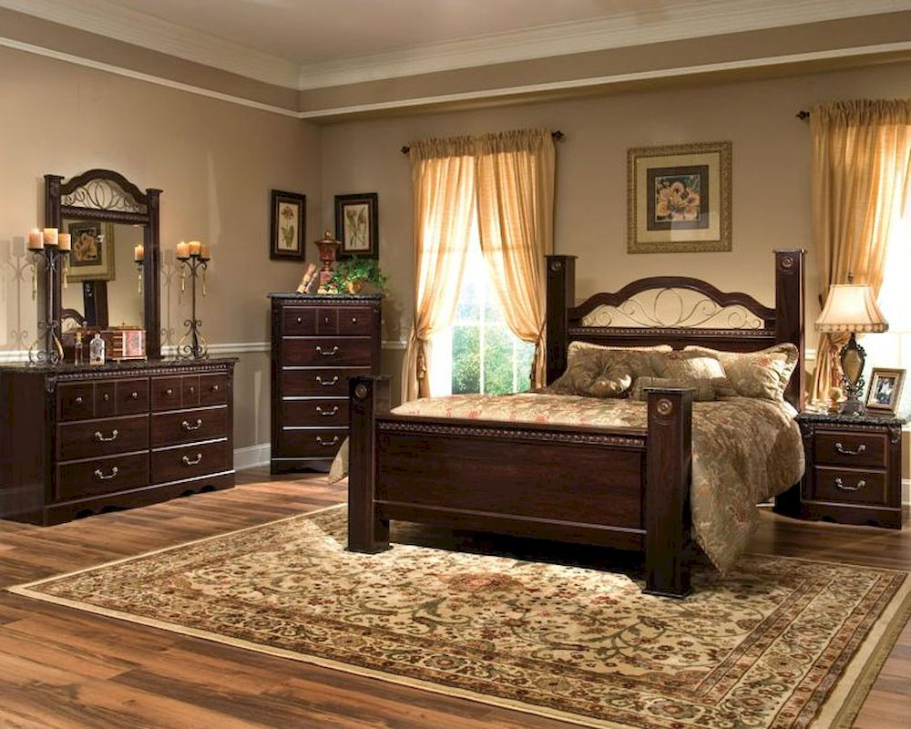 standard furniture poster bedroom set sorrento st 4000set