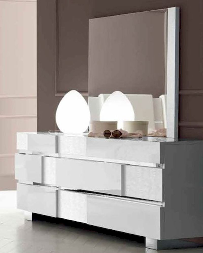 Status aprice Dresser and Mirror in Modern Style 33190S - ^