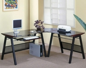 Stirling L Shape Computer Desk with Keyboard Tray CO800237