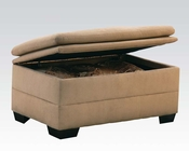 Storage Ottoman Lucille Latte by Acme Furniture AC50363