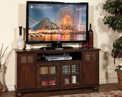 Sunny Designs 60in Dark Chocolate TV Console SU-3460DC