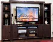 Sunny Designs Dark Entertainment Wall Walnut Creek SU-3465DWW