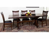 Dining Set w/ Trestle Table Crosswinds by Sunny Designs SU-1358WMs