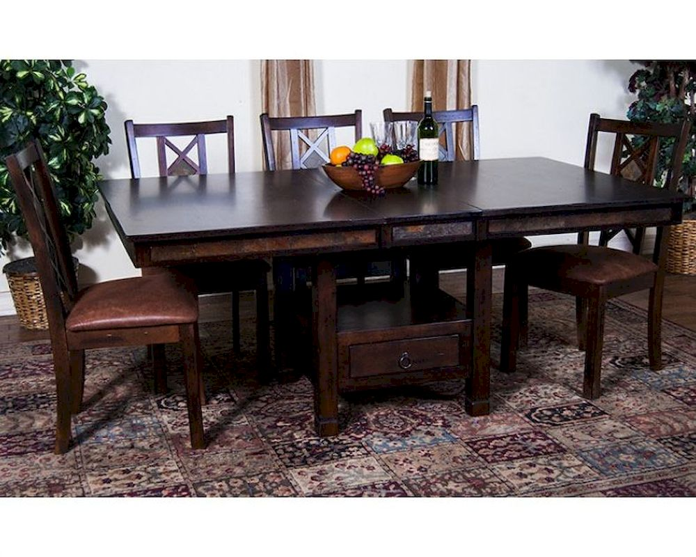 Dining Set W Butterfly Table Santa Fe By Sunny Designs Su