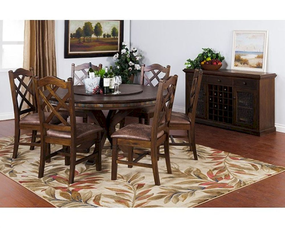 Dining Set w Lazy Susan Table Savannah by Sunny Designs  : sunny designs dining set w lazy susan table savannah su 1365acs 18 from www.homefurnituremart.com size 1000 x 800 jpeg 139kB