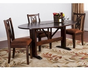 Dining Set w/ Drop Leaf Table Santa Fe by Sunny Designs SU-1194DCs