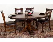 Crosswinds Dining Set w/ Extension Table by Sunny Designs SU-1357WMs