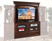 Sunny Designs Entertainment Center in Rustic Mahogany SU-3439RM-1