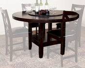 "Sunny Designs Espresso 60""R Table w/ Lazy Susan SU-1195E"