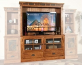 Sunny Designs Rustic Oak Entertainment Wall Unit SU-3439RO-1