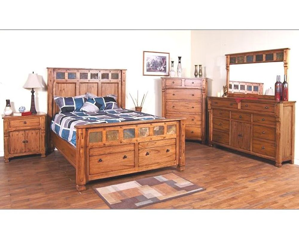 Sunny Designs Sedona 4pc Bedroom Set SU 2322RO Set