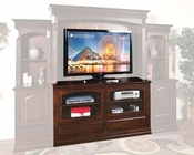 Sunny Designs TV Stand in Dark Chocolate Finish SU-3439DC-TC