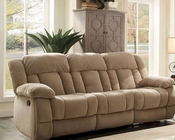 Taupe Double Reclining Sofa Laurelton by Homelegance EL-9636NF-3