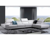 Taupe Leather Sectional Sofa in Modern Style 44L5972