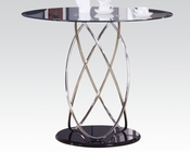 Tempered Clear Glass Counter Height Table Deron by Acme AC70935