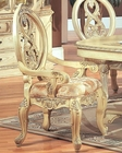 *Traditional Arm Chair in White MCFD6009-A (Set of 2)