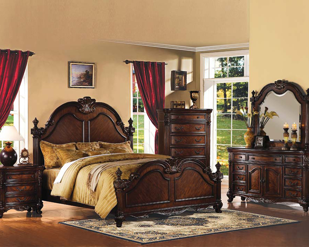 traditional bedroom set remington by acme furniture ac20270set