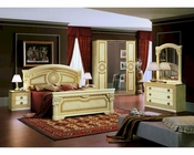 Traditional California King Bed Set Made in Italy 44B006SET