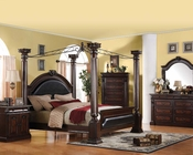 Traditional Canopy Bedroom Set Roman Empire Acme AC19340SET