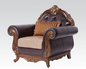 Traditional Chair w/ One Pillow Dorothea by Acme Furniture AC51592