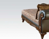 Traditional Chaise w/ 2 Pillows Fairfax by Acme Furniture AC50332