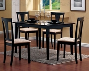 Traditional Dinette Set in Black - Coaster CO-150181s