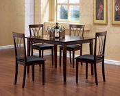 Traditional Dinette Set in Dark Cherry - Coaster CO-150191s