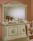 Traditional Dining Buffet w/ Mirror in Beige Finish 44DBG-DIN-BM