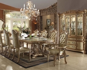 Traditional Dining Set Vendome Gold by Acme Furniture AC63000SET