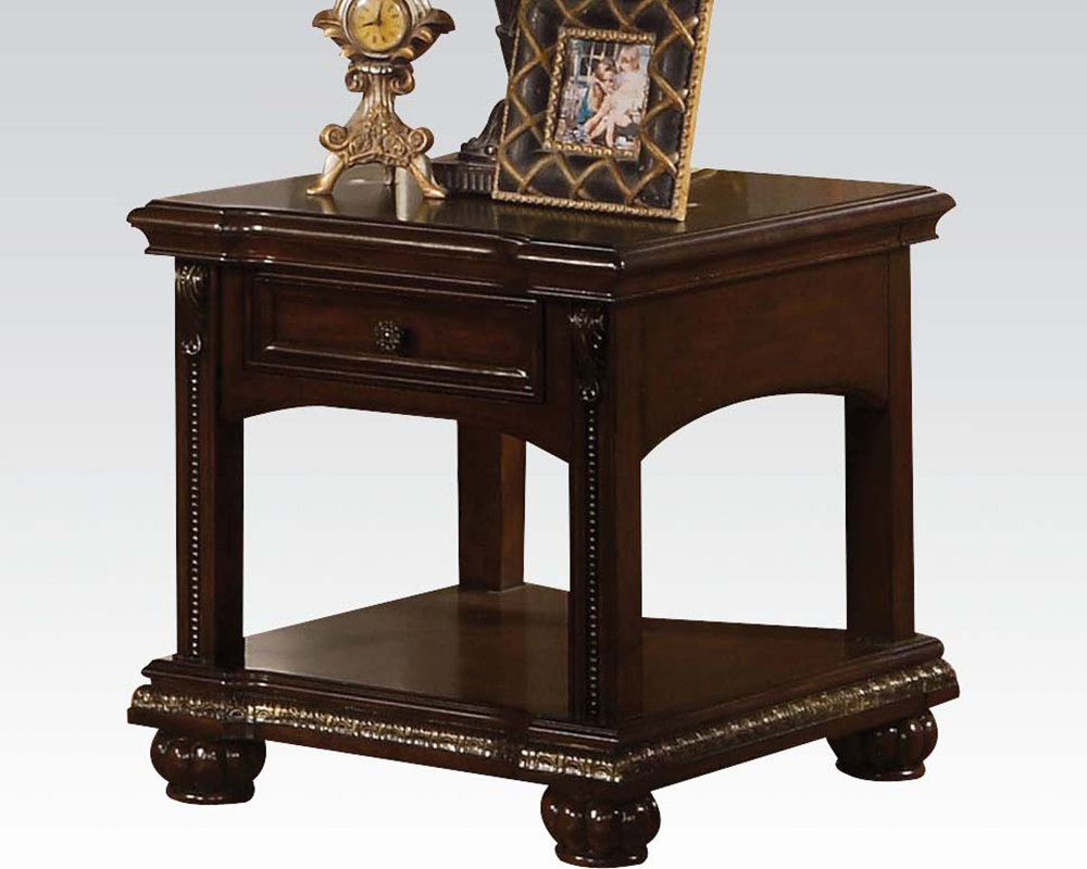 Traditional End Table In Cherry Anondale By Acme Furniture