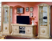 Traditional Entertainment Center in Beige Finish 44DBG-ENT-EC