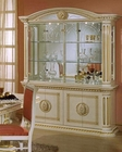 Traditional Four-Door China Cabinet in Beige Finish 44DBG-DIN-CC4