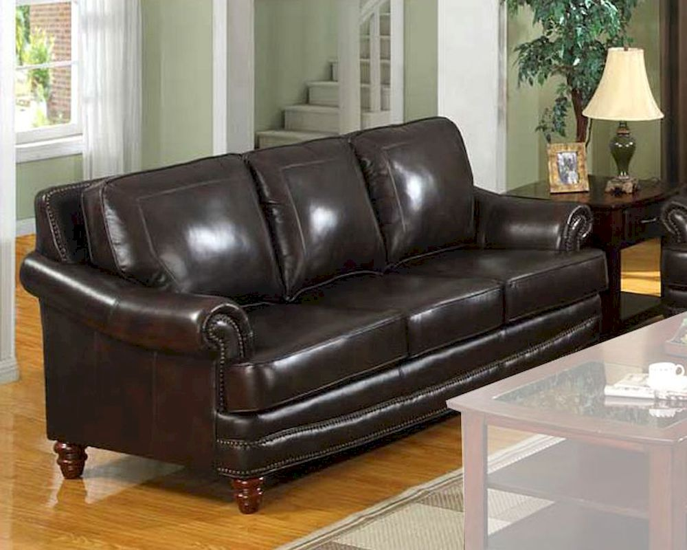 Traditional Leather Sofa Mo Bols