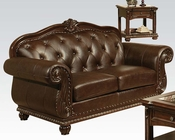 Traditional Loveseat in Cherry Anondale by Acme Furniture AC15031