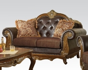 Traditional Loveseat w/ 2 Pillows Dorothea by Acme Furniture AC51591