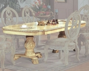 *Traditional Pedestal Dining Table in White MCFD6009-T