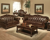 Traditional Sofa Set in Cherry Anondale by Acme Furniture AC15030SET