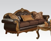 Traditional  Sofa w/ 3 Pillows Dorothea by Acme Furniture AC51590